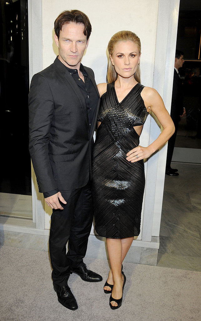 Anna Paquin and Stephen Moyer attended a Tom Ford bash together on Thursday night in LA.