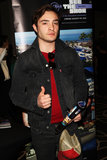 Ed Westwick gave a thumbs-up at Kari Feinstein's pre-Academy Awards style lounge in LA on Thursday night.