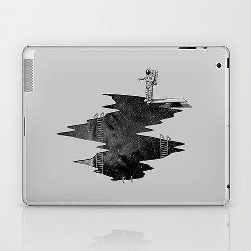 Take the plunge: let's go Space Diving with this laptop and tablet decal ($25).