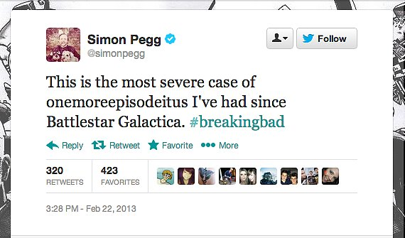 Actor Simon Pegg suffers from an ailment for which, unfortunately, there is no cure.