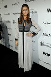 Kate Walsh chose a mixed-print maxi dress with long sleeves and a keyhole cutout for the Women in Film cocktail party in LA.