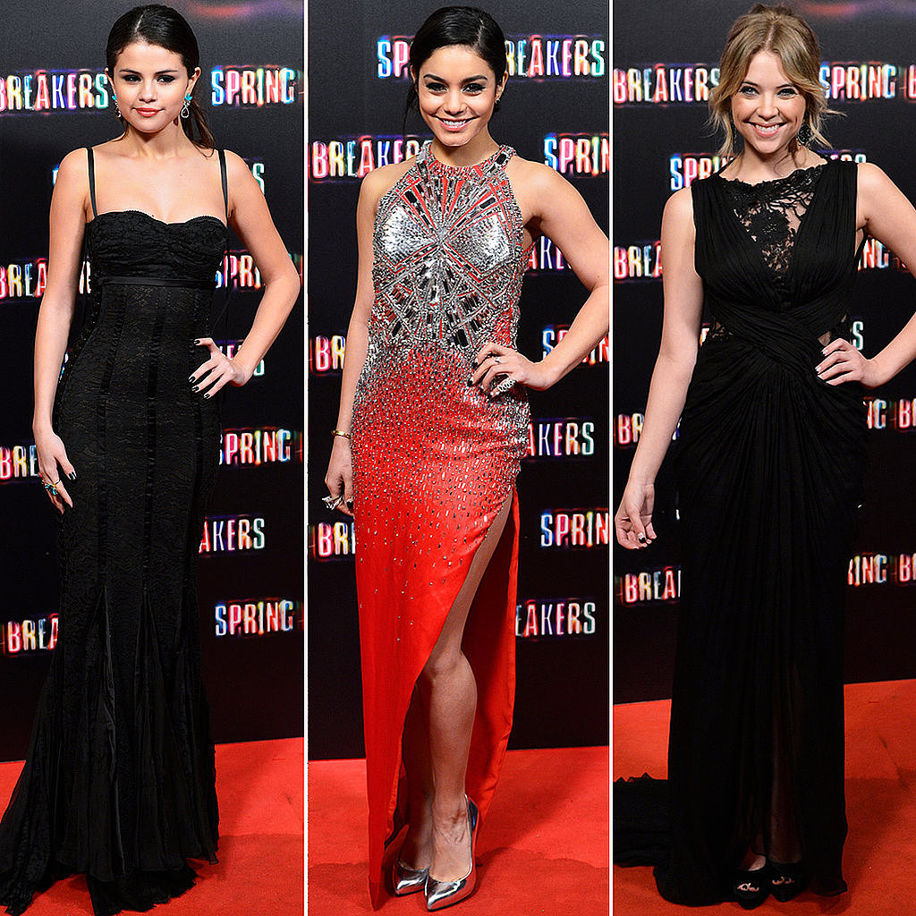We're loving everything the cast of Spring Breakers has been wearing to kick off their promo tour.