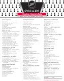 Academy Awards Ballot