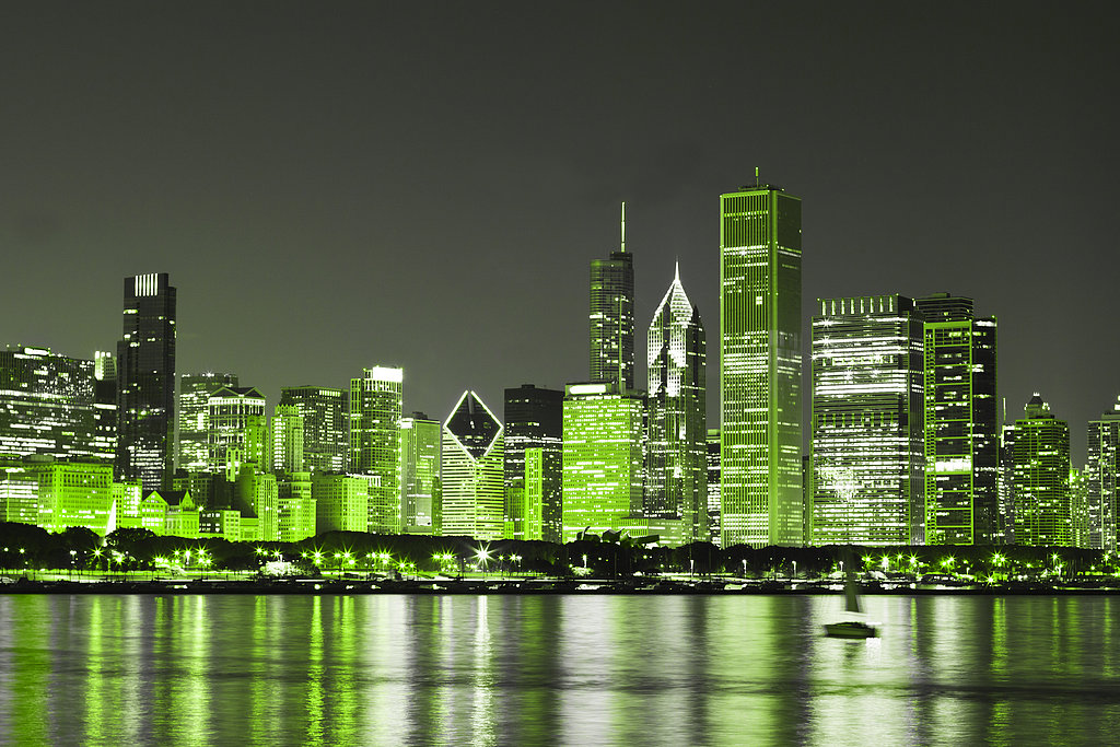 Watch Chicago Turn Green