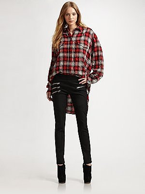 Joseph Drill Oversized Plaid Shirt
