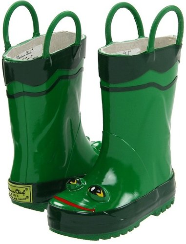 Western Chief Kids - Frog Rainboot (Infant/Toddler/Youth) (Green Frog) - Footwear