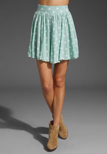 MINKPINK Peppermint Pattie High Waisted Skirt