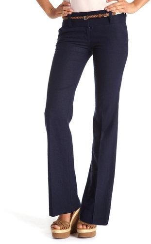 Rope-Belt Linen Trouser