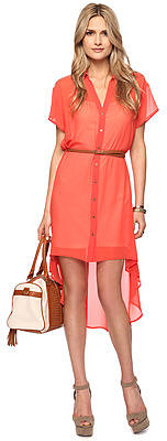 Love 21 Belted High-Low Shirtdress