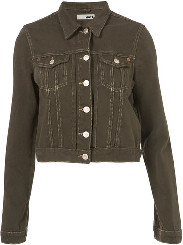 MOTO Khaki Denim Jacket