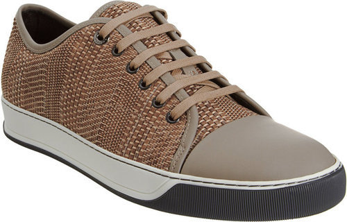 Lanvin Woven Low Top Sneaker