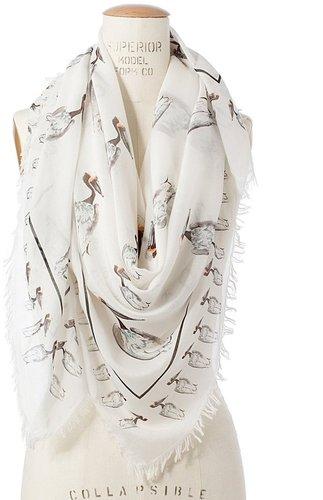 Waterbird storyteller scarf