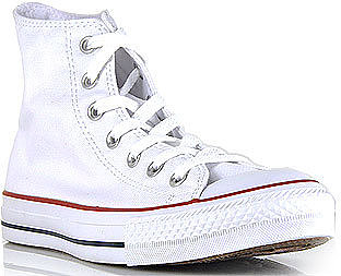 Converse Women's - Chuck Taylor Lace - White Canvas Hi Top Sneaker