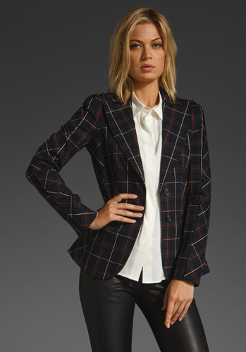 Lamb Plaid Window Pane Blazer