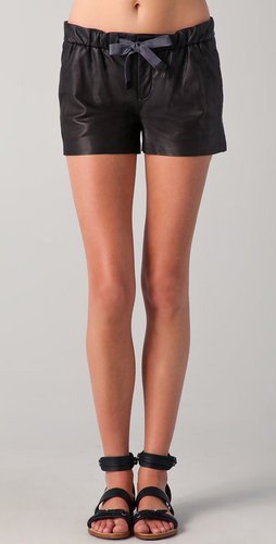 Vince Leather Jogger Shorts