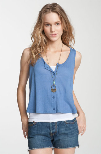 Rubbish® Button Front Crop Tank (Juniors)