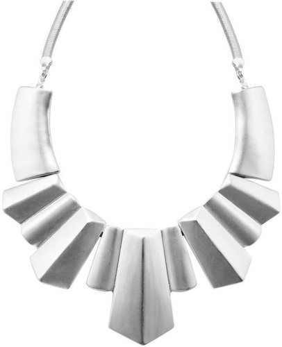 Bar III Necklace, Silver Tone Art Deco Statement Necklace