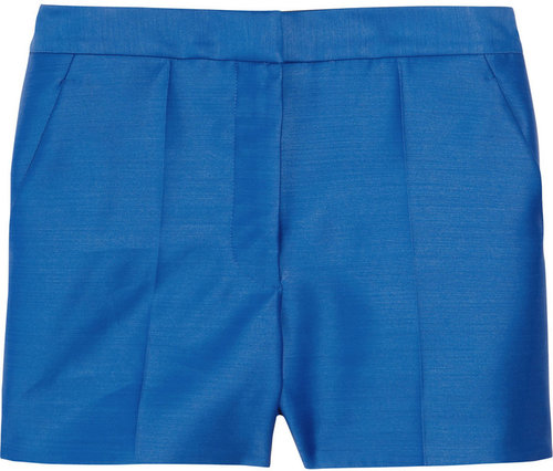 Stella McCartney High-waisted wool and silk-blend shorts