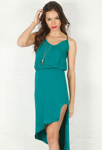 Asymmetrical Cami Dress in Teal - by Mason By Michelle Mason