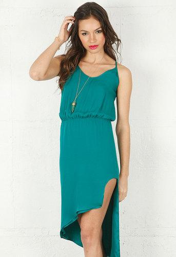 Asymmetrical Cami Dress in Teal - by Mason By Michelle Mason