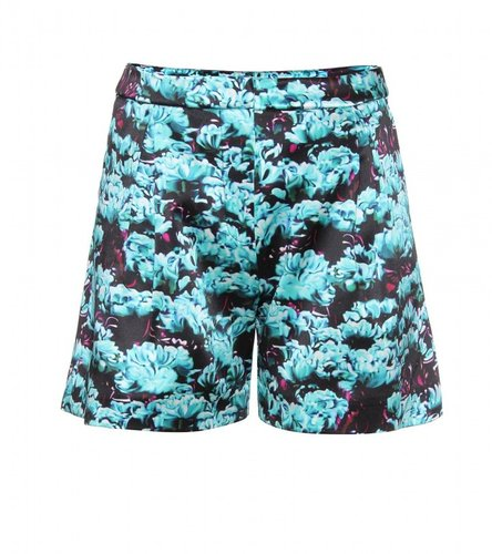 Mary Katrantzou STRIP VALLEY SILK SHORTS