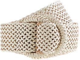 Wide braided belt
