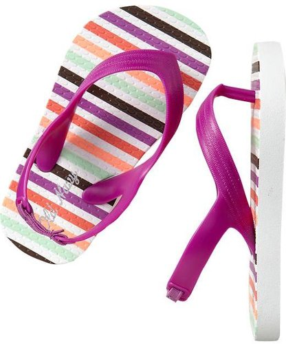 Printed Heel Flip-Flops for Baby