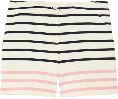Markus Lupfer Striped cotton shorts