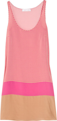 Richard Nicoll Striped silk crepe de chine dress