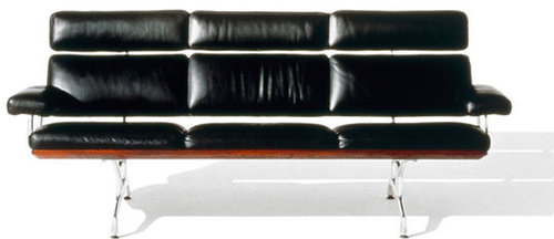 Eames 3 Seat Sofa in HM Leather 9