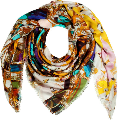 Mary Katrantzou Topaz Multicolor Scarf