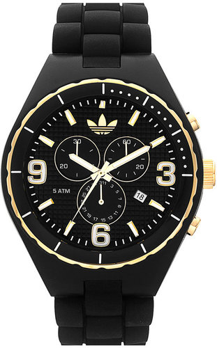 adidas 'Silicone Cambridge' 47mm Chronograph Watch