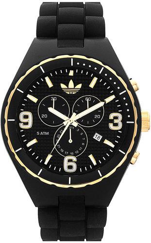 adidas 'Silicone Cambridge' 47mm Chronograph Watch