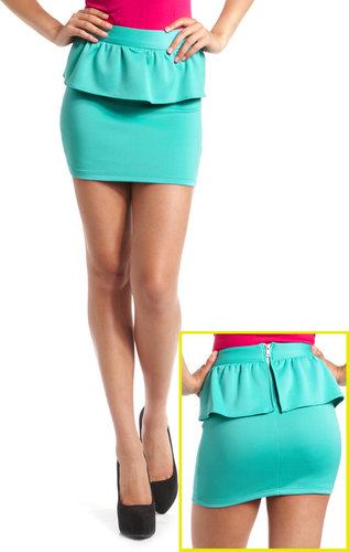 Scuba Peplum Mini Skirt