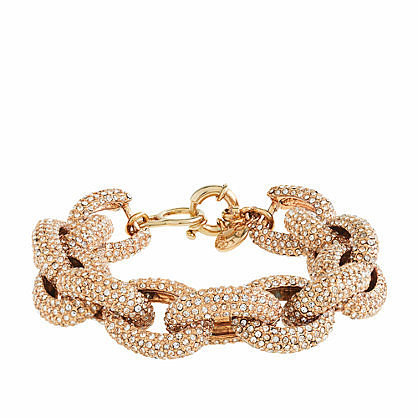 Classic pav link bracelet