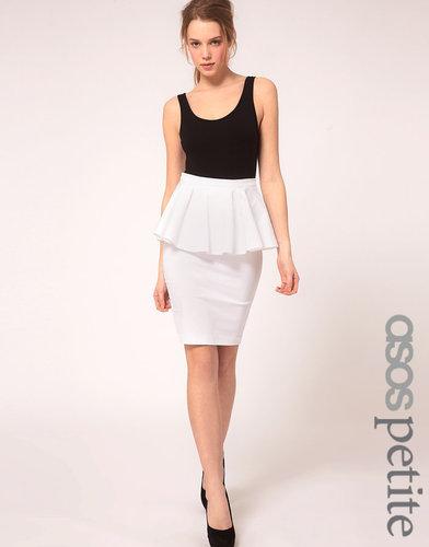 ASOS PETITE Exclusive Peplum Waist Skirt