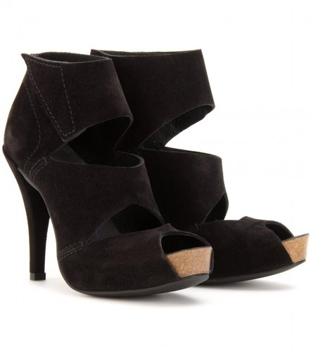 Pedro Garcia CHLOE SUEDE CUT-OUT PLATFORM SANDALS