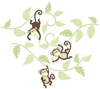 WallPops!® Monkeying Around Wall Art Kit