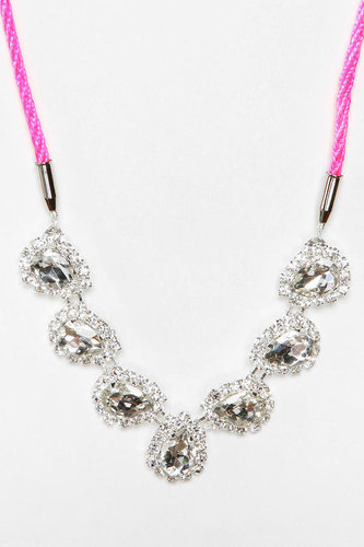 Rocks Paper Metal Crystal  Necklace