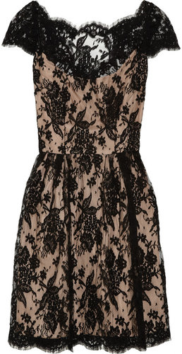Issa Cotton-blend lace dress
