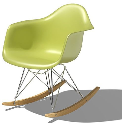 Eames molded plastic rocker by herman miller