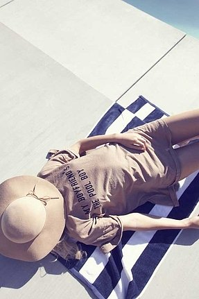 Wildfox Couture My Boyfriend's the Pool Boy Barefoot Tee Dress in Tan