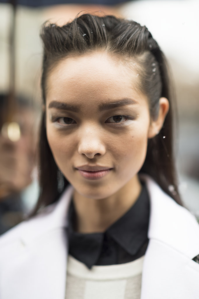 Textured, grungy hair and diffused shadow helped Fei Fei Sun's eyes to pop. Source: Le 21ème | Adam Katz Sinding