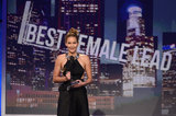 Jennifer Lawrence accepted the award for best female lead for her role in Silver Linings Playbook.