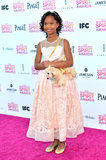 Quvenzhané Wallis on the red carpet at the Spirit Awards 2013.