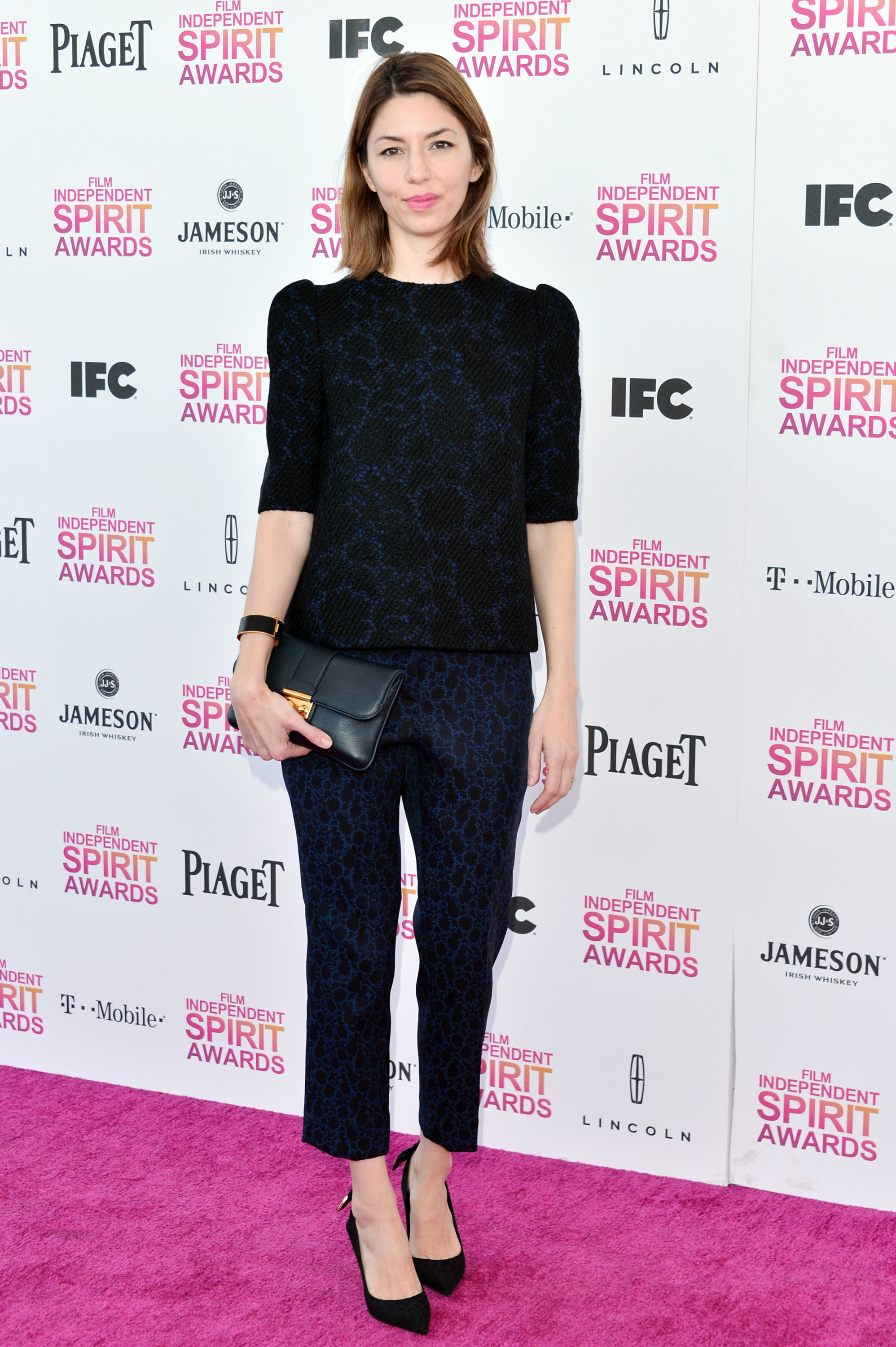 Sofia Coppola on the red carpet at the Spirit Awards 2013.