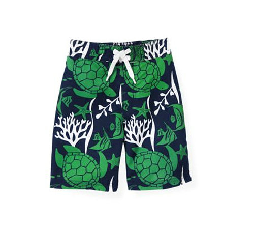 Janie and Jack's Turtle Swim Trunks