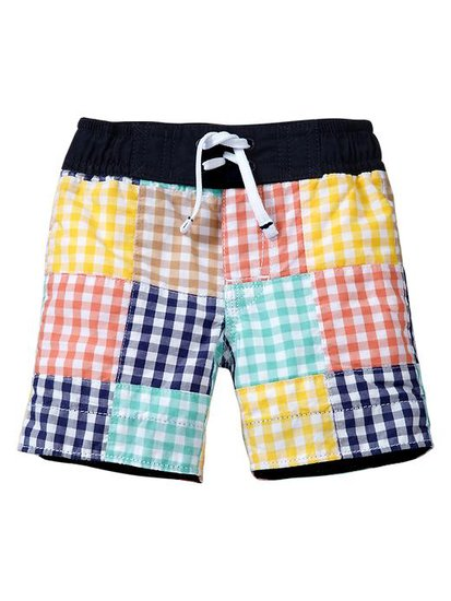 Gap Gingham Patchwork Trunks