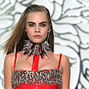 Autumn Winter 13 Milan Fashion Week: Versace Cara Delevingne