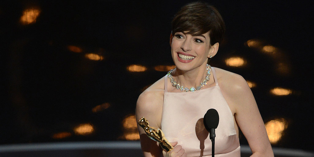 Video: Anne Hathaway Accepts Her Oscar